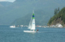 Sailing on Harrison Lake