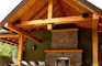 Whistler-like cedar and stone amenities