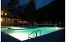 Beautiful night picture of the heated pool.