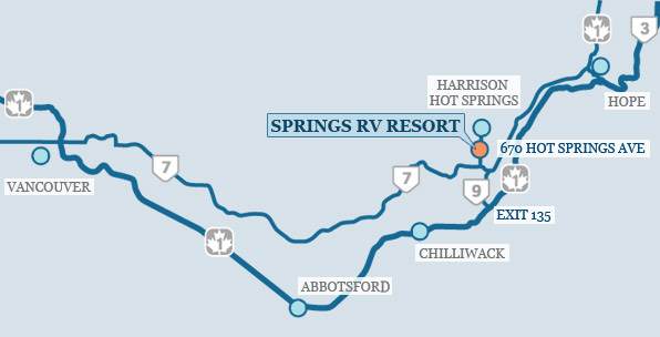 Springs RV Resort Map
