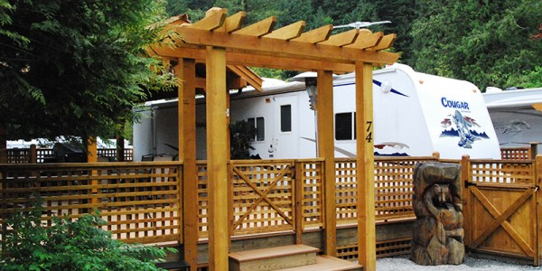 RV camping, short term and yearly RV lot rentals