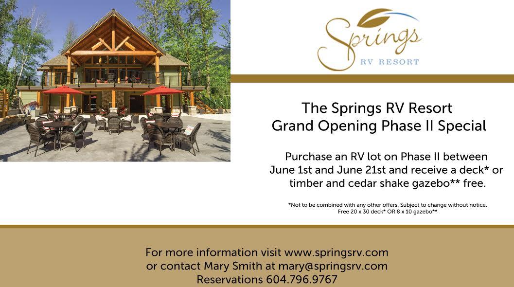 Harrison Hot Springs RV Resort, RV Lots for Sale